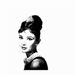 Audrey Hepburn Large Garden Flag (two Sides) by Valentinaart
