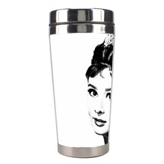 Audrey Hepburn Stainless Steel Travel Tumblers by Valentinaart