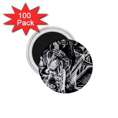 Gray Girl  1 75  Magnets (100 Pack)  by Valentinaart