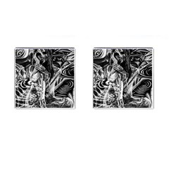 Gray Girl  Cufflinks (square) by Valentinaart