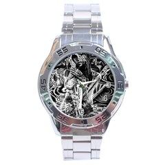 Gray Girl  Stainless Steel Analogue Watch by Valentinaart