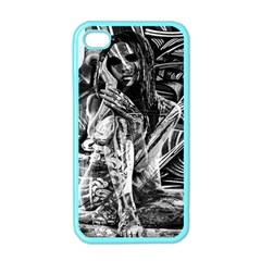 Gray Girl  Apple Iphone 4 Case (color)
