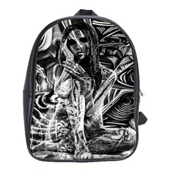Gray Girl  School Bags (xl)  by Valentinaart