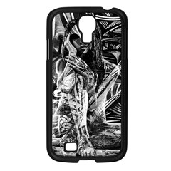 Gray Girl  Samsung Galaxy S4 I9500/ I9505 Case (black) by Valentinaart
