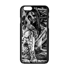 Gray Girl  Apple Iphone 6/6s Black Enamel Case