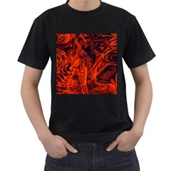 Red Girl Men s T Shirt (black) (two Sided)