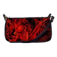 Red Girl Shoulder Clutch Bags by Valentinaart