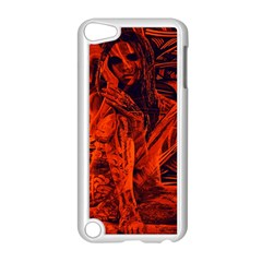 Red Girl Apple Ipod Touch 5 Case (white) by Valentinaart