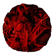 Red Girl Large 18  Premium Round Cushions by Valentinaart