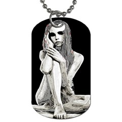 Stone Girl Dog Tag (one Side) by Valentinaart