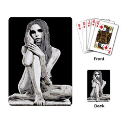 Stone Girl Playing Card by Valentinaart