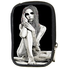 Stone Girl Compact Camera Cases by Valentinaart