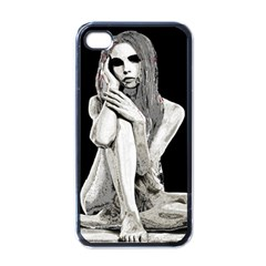 Stone Girl Apple Iphone 4 Case (black) by Valentinaart