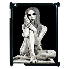 Stone Girl Apple Ipad 2 Case (black) by Valentinaart