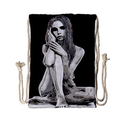 Stone Girl Drawstring Bag (small) by Valentinaart
