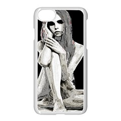Stone Girl Apple Iphone 7 Seamless Case (white) by Valentinaart