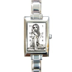 Stone Girl Rectangle Italian Charm Watch by Valentinaart