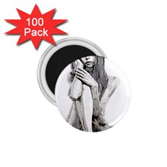 Stone Girl 1 75  Magnets (100 Pack)  by Valentinaart