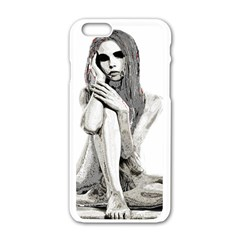 Stone Girl Apple Iphone 6/6s White Enamel Case by Valentinaart