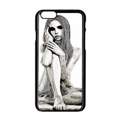 Stone Girl Apple Iphone 6/6s Black Enamel Case by Valentinaart