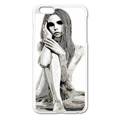 Stone Girl Apple Iphone 6 Plus/6s Plus Enamel White Case by Valentinaart