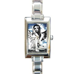 Angel Rectangle Italian Charm Watch by Valentinaart