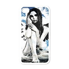 Angel Apple Iphone 4 Case (white) by Valentinaart