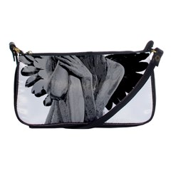Stone Angel Shoulder Clutch Bags by Valentinaart