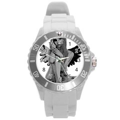 Stone Angel Round Plastic Sport Watch (l) by Valentinaart