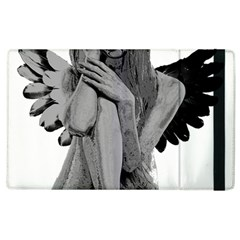 Stone Angel Apple Ipad 3/4 Flip Case by Valentinaart