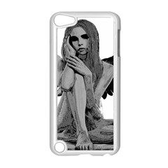 Stone Angel Apple Ipod Touch 5 Case (white) by Valentinaart