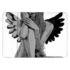 Stone Angel Samsung Galaxy Tab 8 9  P7300 Flip Case by Valentinaart
