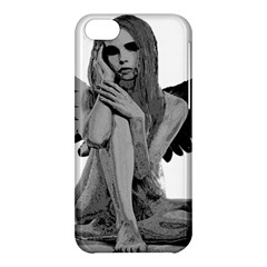 Stone Angel Apple Iphone 5c Hardshell Case by Valentinaart