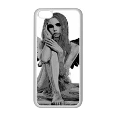 Stone Angel Apple Iphone 5c Seamless Case (white) by Valentinaart