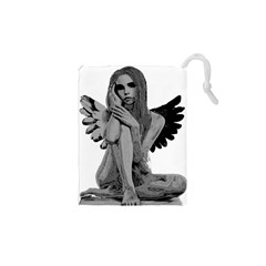 Stone Angel Drawstring Pouches (xs)  by Valentinaart