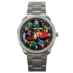 Hippie Van  Sport Metal Watch by Valentinaart