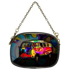 Hippie Van  Chain Purses (one Side)  by Valentinaart
