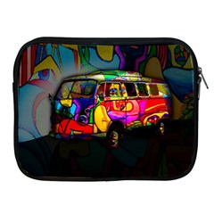 Hippie Van  Apple Ipad 2/3/4 Zipper Cases by Valentinaart