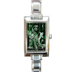 Cyber Angel Rectangle Italian Charm Watch by Valentinaart