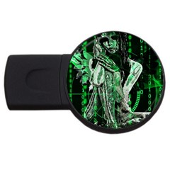 Cyber Angel Usb Flash Drive Round (4 Gb) by Valentinaart