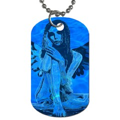 Underwater Angel Dog Tag (two Sides) by Valentinaart
