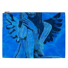 Underwater Angel Cosmetic Bag (xxl)  by Valentinaart
