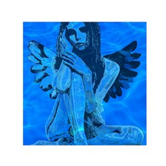 Underwater Angel Small Satin Scarf (square) by Valentinaart