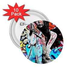Graffiti Angel 2 25  Buttons (10 Pack)  by Valentinaart