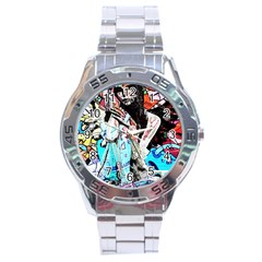 Graffiti Angel Stainless Steel Analogue Watch by Valentinaart