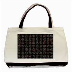 Chinese Characters Basic Tote Bag (two Sides) by Valentinaart