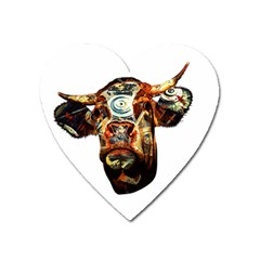Artistic Cow Heart Magnet by Valentinaart