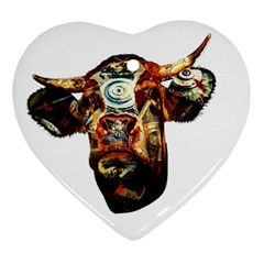 Artistic Cow Heart Ornament (two Sides) by Valentinaart