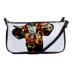 Artistic Cow Shoulder Clutch Bags by Valentinaart