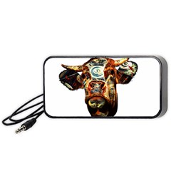 Artistic Cow Portable Speaker (black) by Valentinaart